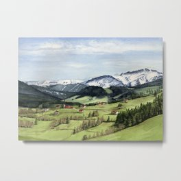 Landscape in the Alps Metal Print