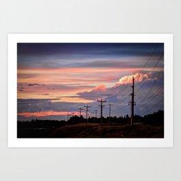 Prarie Sunset, Alberta Art Print