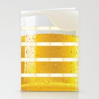 beer Stationery Cards featuring BEER by Ylenia Pizzetti