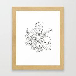 The Detective & The Mercenary Framed Art Print