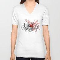 georgia V-neck T-shirts featuring Georgia by Tanie