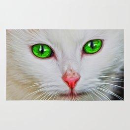 Green Eyes Cat Rug