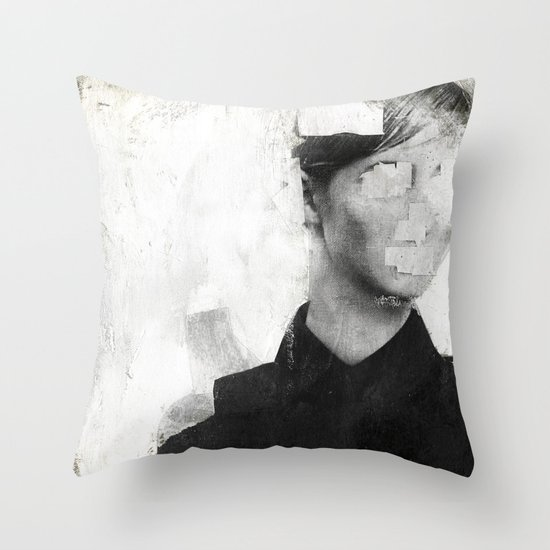 Faceless | number 01 Throw Pillow