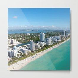 USA Photography - Coast Of Miami Metal Print