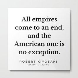 27   |  Robert Kiyosaki Quotes | 190824 Metal Print