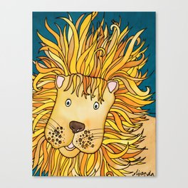 Zulu - A Not Very Ferocious Lion Canvas Print