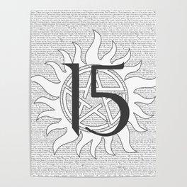 SPN Print (White) Poster