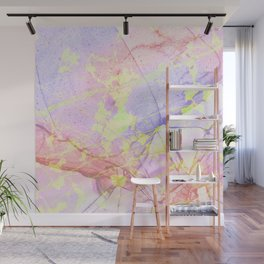 Irridescent Marble - Pink, Purple and neon green Wall Mural