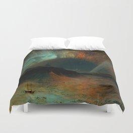 Aurora Borealis by Frederic Edwin Church Duvet Cover