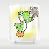 yoshi Shower Curtains featuring Yoshi Wonderland !  by Art & Be