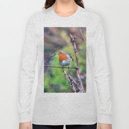 Garden Robin Long Sleeve T-shirt