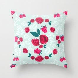 Roses & Berries Throw Pillow