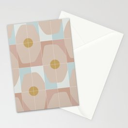 Patchy Octagon Tiles Stationery Cards