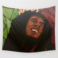 marley Wall Tapestries featuring Be happy  by Andulino