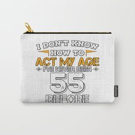 Funny Birthday Gift 55 Years Sixty Born in 1963 Carry-All Pouch