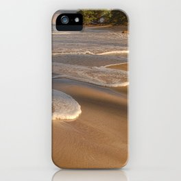 Gentle Waves on Beach iPhone Case