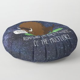 Neil deGrasse Tyson / Bison Floor Pillow