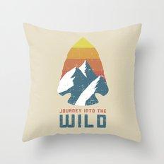 Journey Into the Wild Throw Pillow