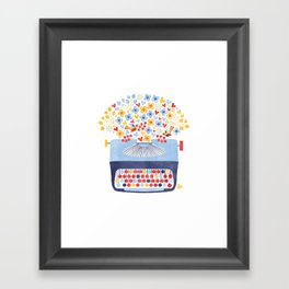 Poetry Typewriter Framed Art Print
