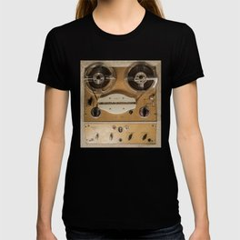Vintage tape sound recorder reel to reel T-shirt