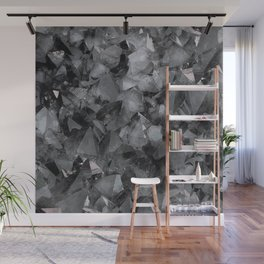 Crackle Geo_Grey Wall Mural