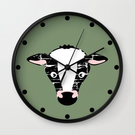 Cute Cow Face Wall Clock