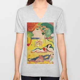 The Joy of Life - Henri Matisse - Exhibition Poster Poster Unisex V-Neck