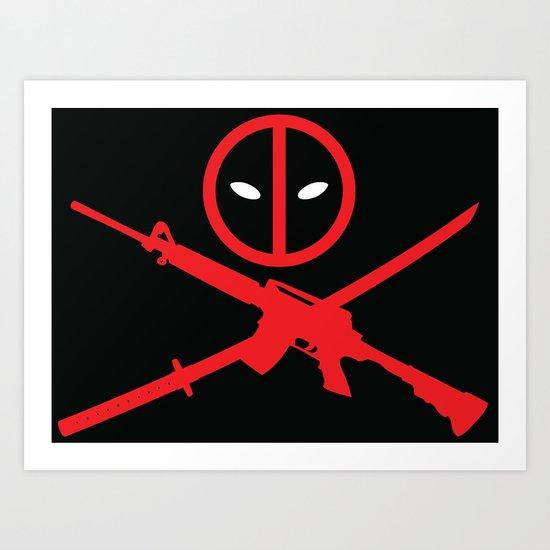 Deadpool - Wade Wilson 2 Art Print
