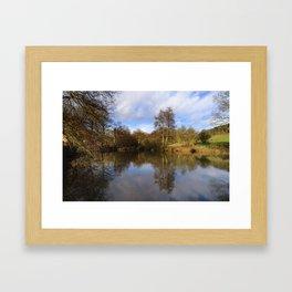 Lumsdale pool Framed Art Print