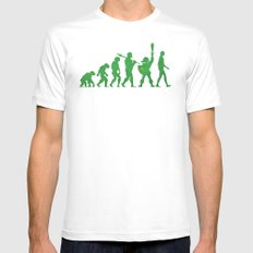 Missing Link Mens Fitted Tee White MEDIUM