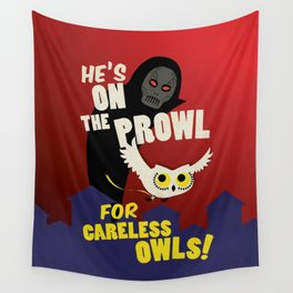 Careless Owls Wall Tapestry
