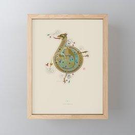 Celtic Initial B Framed Mini Art Print
