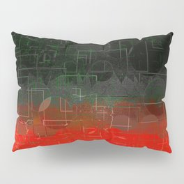 Dark Red Black Emerald  Multi-Pattern Overlay Design Pillow Sham