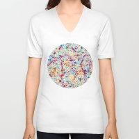 spain V-neck T-shirts featuring Spain – Barcelona by David Popov