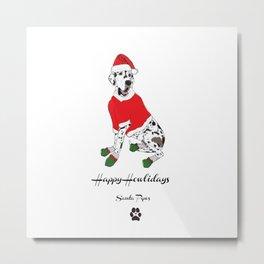 Happy Howlidays - Santa Paws Metal Print