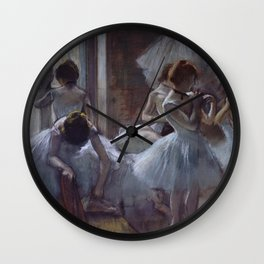Edgar Degas - Dancers 1884 Wall Clock
