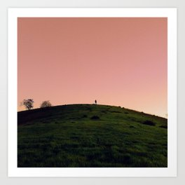 Alone in Pink Art Print
