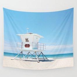 Lifeguard tower Carlsbad 35 Wall Tapestry