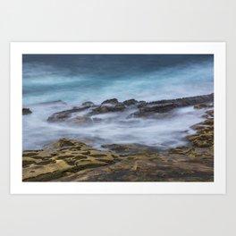 Misty Ocean Blur Art Print