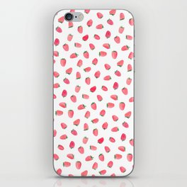 Strawberry Patch Watercolor Pattern iPhone Skin