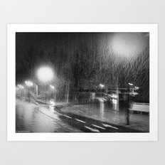 Not night for bikers Art Print