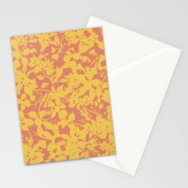 Yellow and Coral Botanical Pattern - Broken but Flourishing Stationery Cards