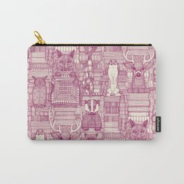 books and blankies cherry pearl Carry-All Pouch