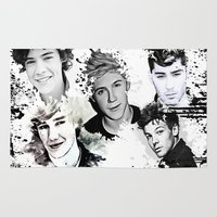 1d Area & Throw Rugs featuring 1D Splat by D77 The DigArtisT