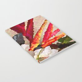 Tropical Flowers Abstract Notebook