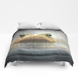 Frog from Front Painting Style Comforters