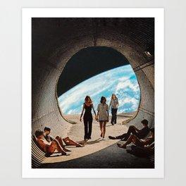 'Scifi Kids' Art Print