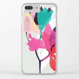 lily 31 sq Clear iPhone Case