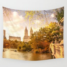 New York City Autumn Landscape Wall Tapestry