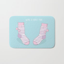 Perfect Pair #kawaii #christmas Bath Mat